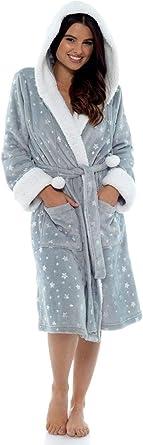 Bata para Mujer Foxbury Fleece Foil Star Impresa, Bata, Abrigo