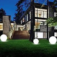 Uonlytech luz de bola led lámpara de césped