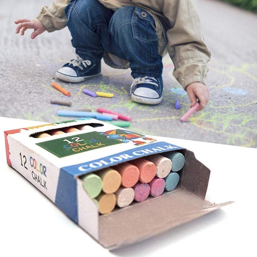Non-Toxic Colorful Dustless Chalk 12//100 Pcs//Box,Sidewalk Chalk Set Gift for Kids