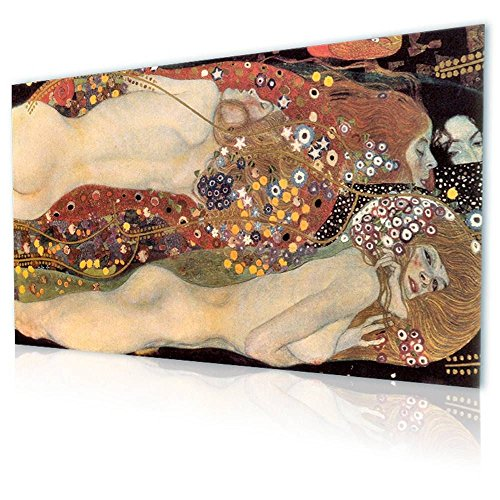 Alonline Art - Water Serpents Snakes Gustav Klimt PRINT On CANVAS (Synthetic, UNFRAMED Unmounted) 55