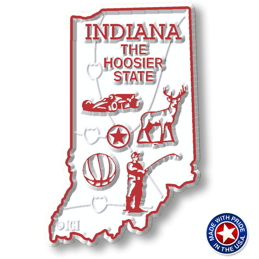 Indiana State Map Magnet