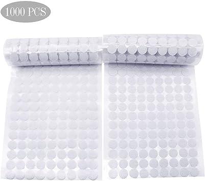 300 x 13mm Self Adhesive WHITE Hook /& Loop Fastener Dots 150 Hook /& 150 Loop