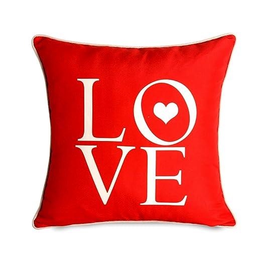 gaeneric letras LOVE estándar decorativo cuadrado de algodón ...