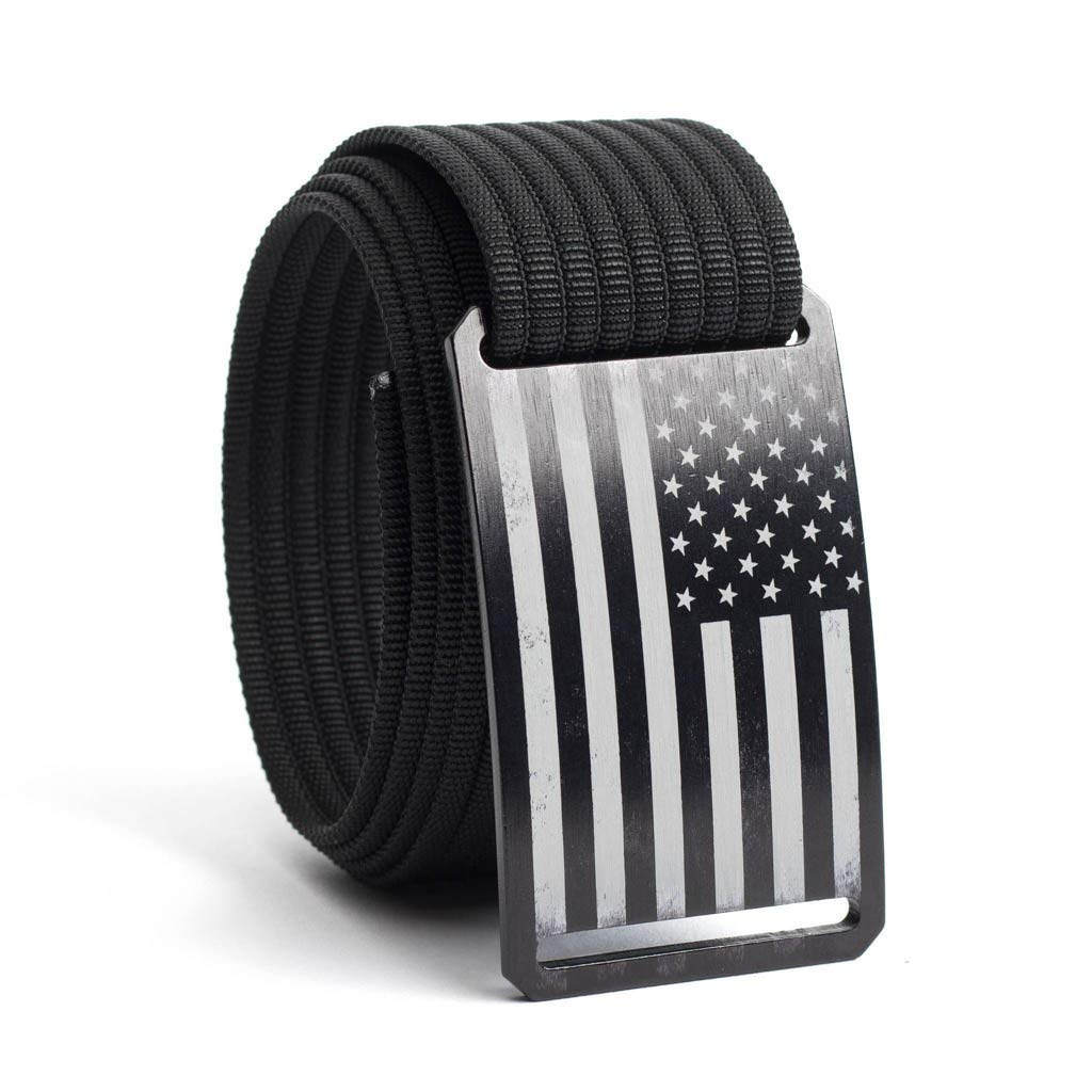 GRIP6 USA Black Flag Men's Belt (44in USA Black)