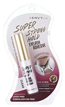 Kiss I Envy Super Strong Hold Eyelash Adhesive - Best Eyelash Glue For Sensitive Eyes