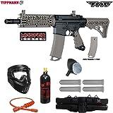 Tippmann TMC MAGFED Silver Paintball Gun Package - Black / Tan
