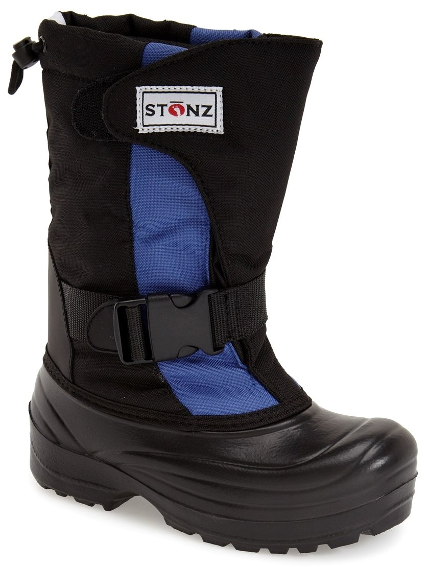Stonz Winter Boots for Cold Weather, Snow, Ice and Winter Sports - Insulated, Super Light, Warm, Slate Blue/Black, Toddler 12