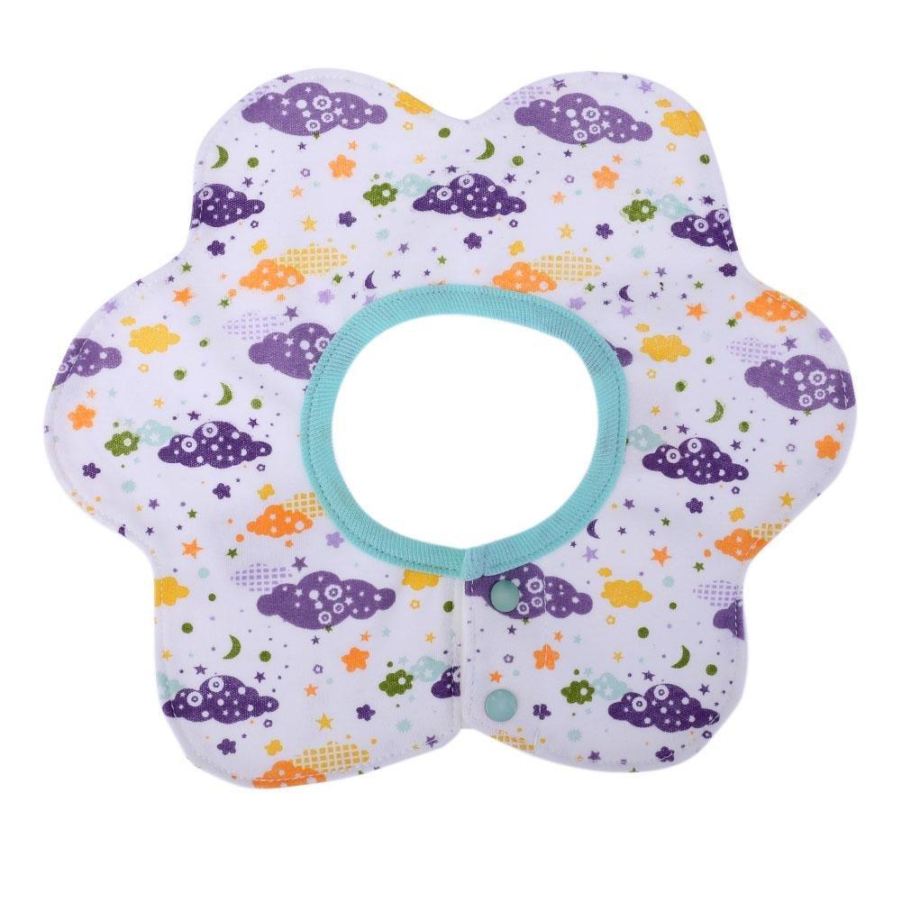 Everpert bavaglini con scollo rotondo 360gradi di rotazione del panno del bambino infantile cotone bavaglino