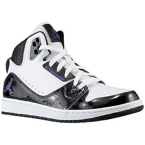 new style 840b1 50cb2 Nike Men s Jordan 1 Flight 2 White Black Concord Basketball Shoes  555798-153 (12