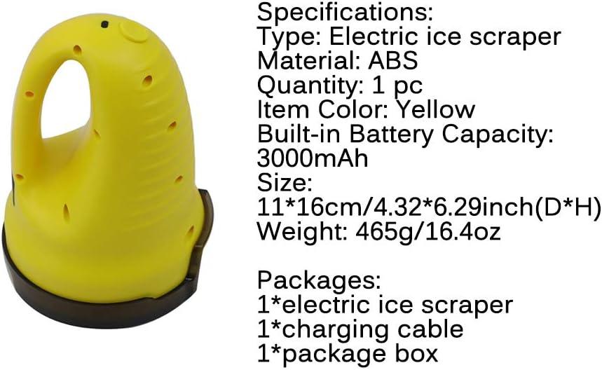 d/égivreur Multifonctionnel de d/éneigement de Verre dautomobile grattoir /à Neige /électrique pour Pare-Brise de Voiture d/éneigement de Verre dautomobile. SUNASQ Grattoir /à Glace /électrique