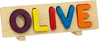 product image for Name Puzzle, Bright Colors - 5 Letters with Props - Made in USA