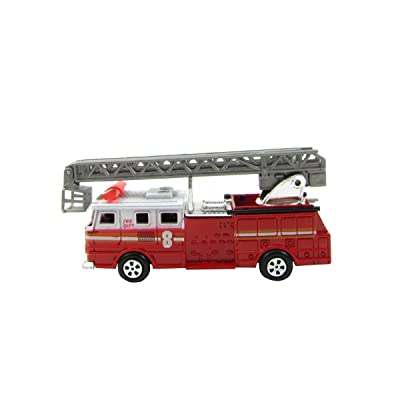 Treasure Gurus 1:87 Scale HO Gauge Fire Engine Ladder Truck Model Train Accessory Pencil Sharpener: Toys & Games