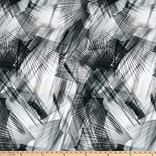 Blank Quilting Plume 108'' Digital Feather Texture Fabric, Gray, Fabric By The Yard