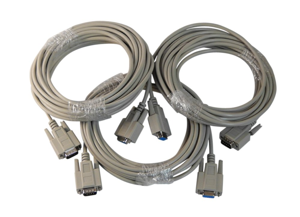 Your Cable Store 25 Foot DB9 9 Pin Serial Extension Cable RS232 3 Pack