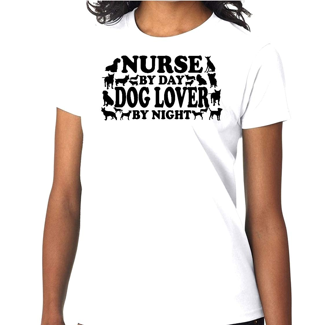 Nurse By Day Dog Lover By Night Breed Pet Trendy Short Sleeve Tshirt T Gift