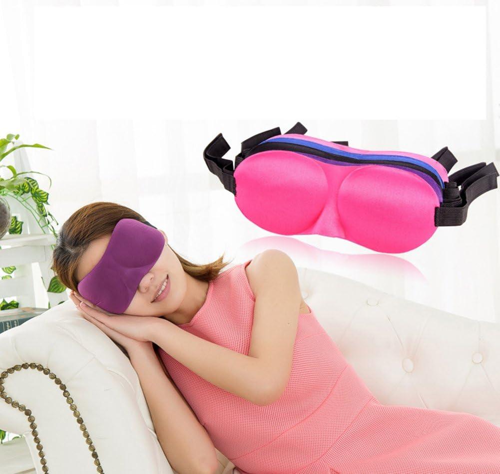 Doitsa Lunettes de Sommeil Trois Dimensions Tridimensionnel Lunettes Respirantes et Opaques Lunettes de sommeil sans soudure Masque de sommeil bandeau Violet