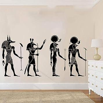 Apliques 4 Piezas De Antiguos Dioses Egipcios Pegatinas De Pared ...