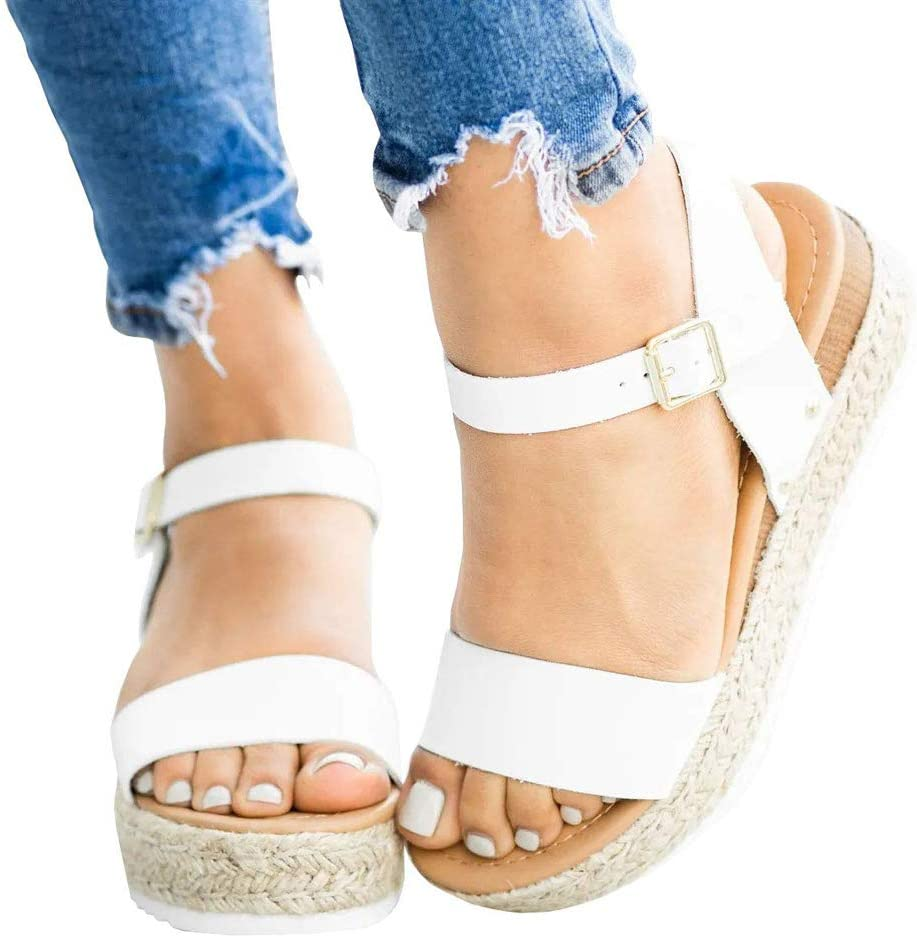 Benficial Womens Sandals Fashioh Summer Open Toe Casual Square Heels Shoes Ladies Sandals 2019 Summer New