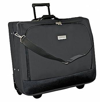 Geoffrey Beene Deluxe Rolling Garment Bag - Travel Garment Carrier With  Wheels - Black 4143f0028e