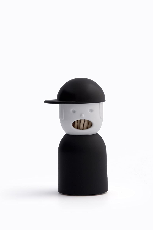 Qualy QL10055W Picky Boy - Palillero, diseñ o de muñ eco con gorra, color blanco diseño de muñeco con gorra 8858782103912