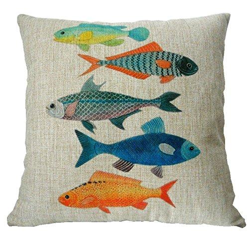 Decorbox Cotton Linen Square Decorative Fashion Throw Pillow
