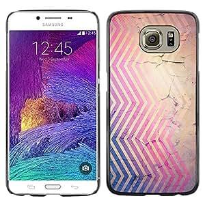 TopCaseStore / la caja del caucho duro de la cubierta de protección de la piel - Cracked Pink Blue Brown Red - Samsung Galaxy S6 SM-G920