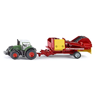 Siku 1808 Tractor with Potatoes Roder Car And Traffic Models, Green/Red: Siku: Toys & Games