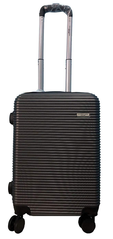 U.S. Polo Association Polycarbonate 50cm Dark Grey Trolley Bag with Coffee  Mug  Amazon.in  Bags cbefc3e38578e
