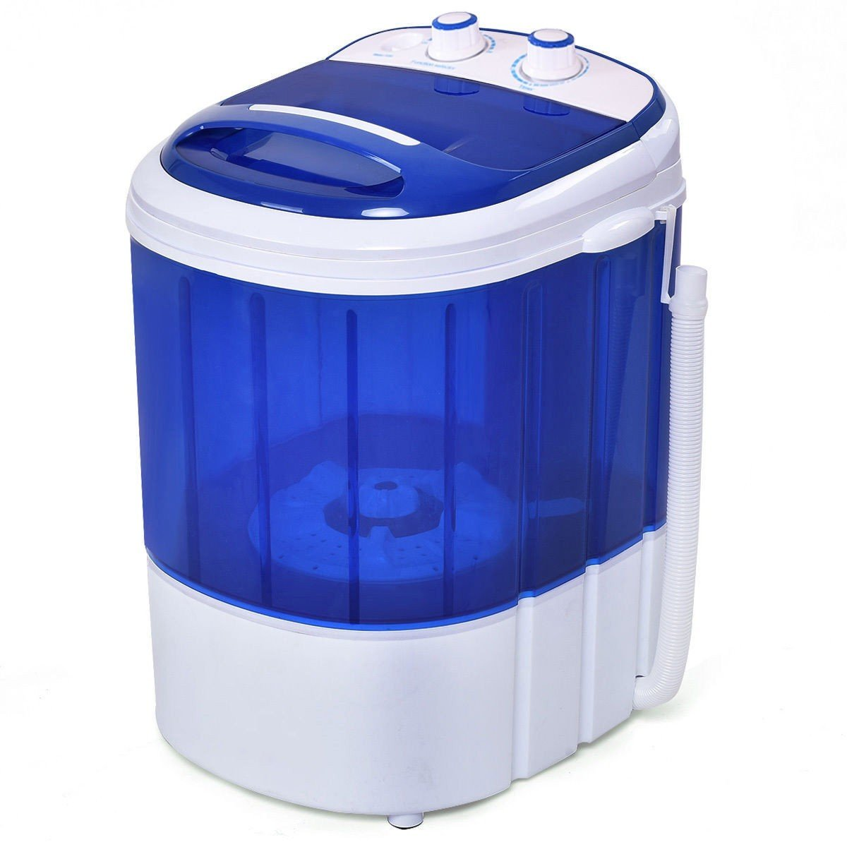 Kanizz Portable Washing Machine Compact Single Tub 7lbs. Mini Laundry Spinner Top Load Wash Semi-Automatic, Durable Dorm Room Compact Household MonoTub Washing Machine Gravity Drain Easy Use by Kanizz