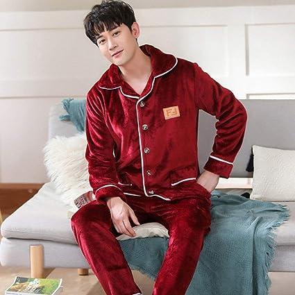 WWEEO Pijamas de Hombre,Ropa de Dormir cálida para Hombre ...