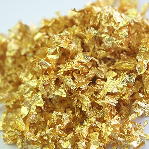 Four Seasons Edible Gold Leaf Flakes Zipangu Gold (1pak)