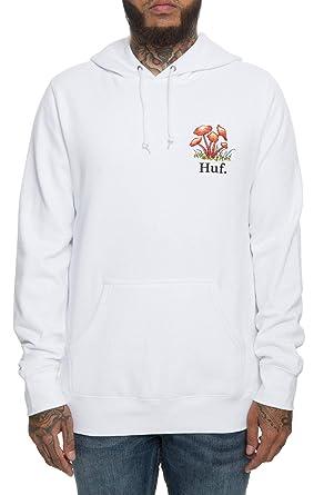HUF Dont Trip - Sudadera con Capucha, Color Blanco Blanco Blanco S