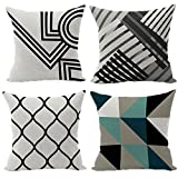 Wood Bury Throw Pillow Case Cushion Cover Decorative Pillowcase Square 18 x 18 Inches 4 Set