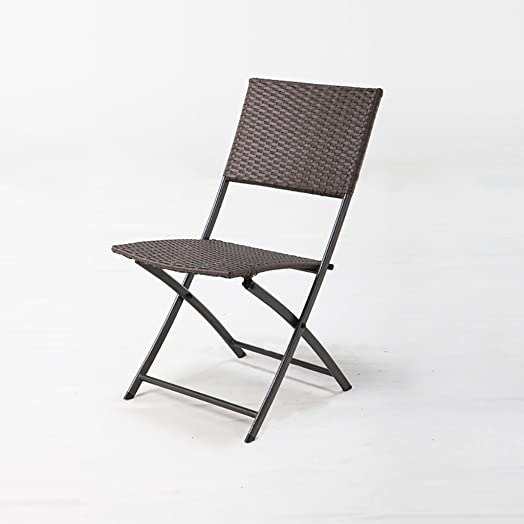 Chairs LL Fold Up Chairs Rattan Folding Chair / Outdoor Balcony Rattan  Leisure Chair / Simple