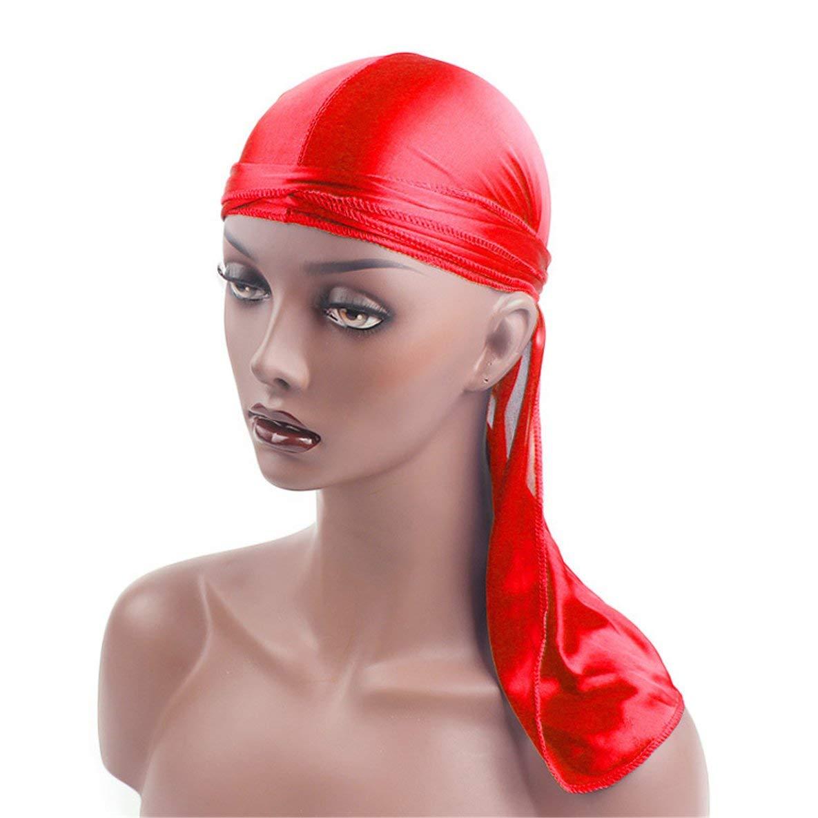 Noradtjcca M/änner Frauen Seidensatin Atmungsaktiv Seidig Durag 360 Wave Cool Bandana Hut Turban