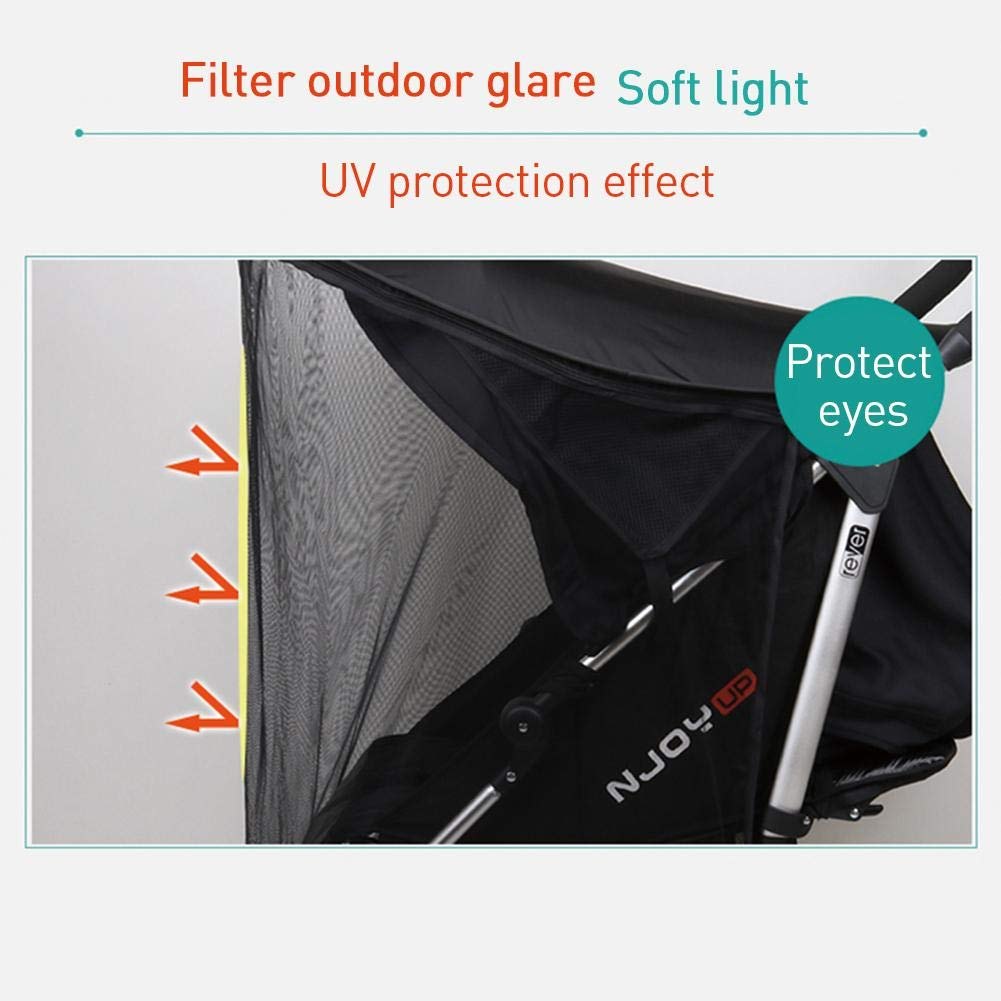 Ladeyi Baby Stroller Sunshade for Baby Buggy Uv Protection Universal Baby Mosquito Net Umbrella Cart Sunshade Cloth Mosquito Net Umbrella Stroller Sunshade Cover(cart is Not Included) by Ladeyi (Image #4)