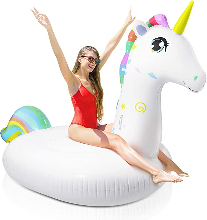 """SIENON Giant Float Mermaid Tail Pool Lounger 72/""""x43/"""" Pool Party Inflatable Water Lounge Float Swimming Pool Float for Adults and Kids for Lazy River Pool or Beach Inflatable Pool Float Raft 14+"""