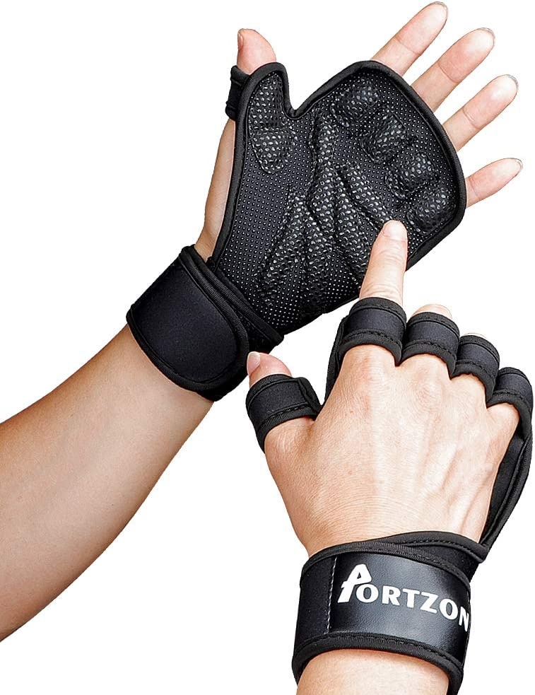 Harbinger Training Grip Mens Black Running Sports Mittens Wrist Gloves