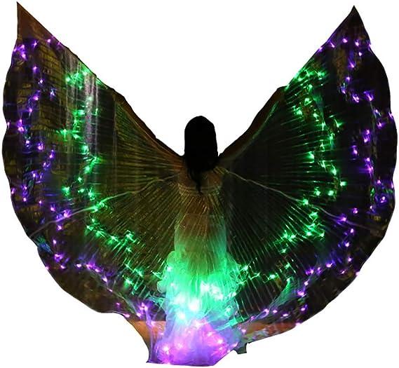 Mujer LED ISIS Wings Encender Forma de Estrella Disfraces de Danza ...