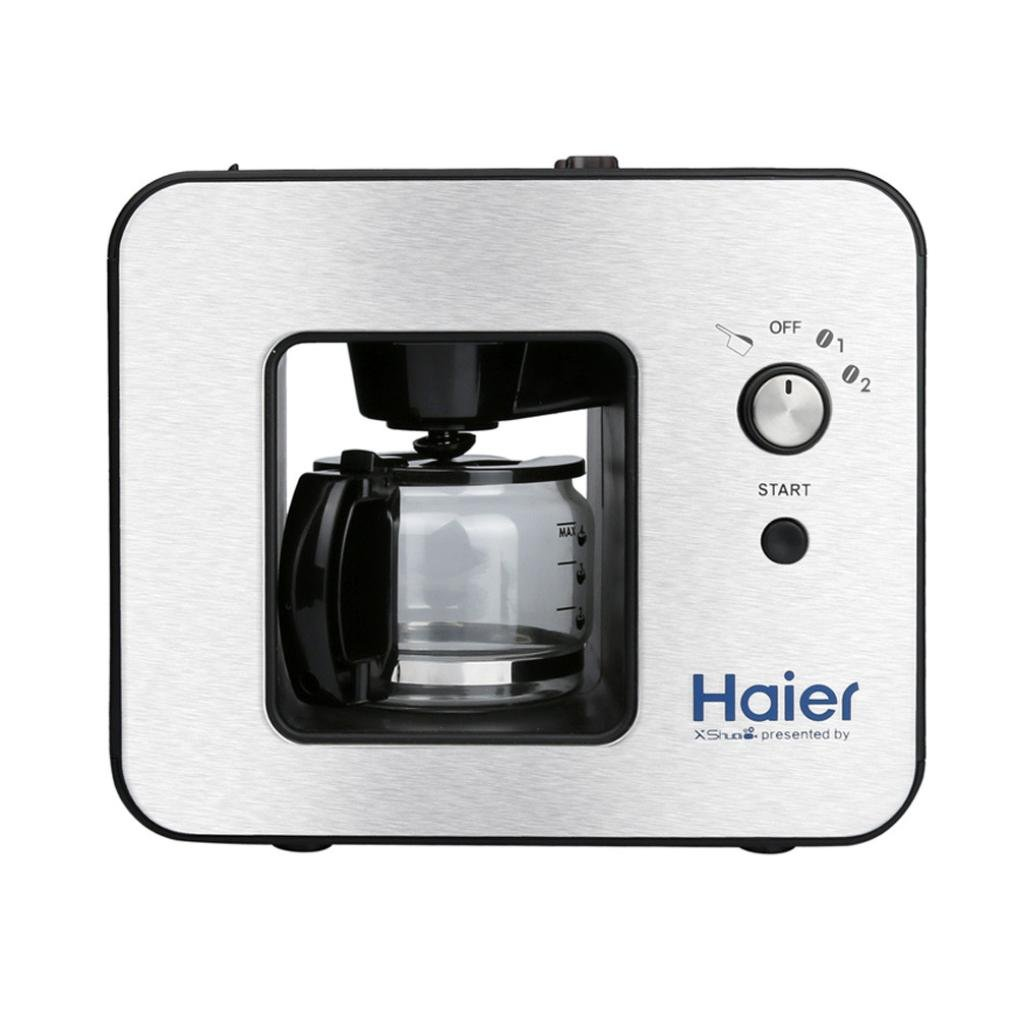 Transer Removable Grinding And Filter Holder Grinding Coffee Maker Presented By Haier, 500ML Apacity, Silver (Silver)