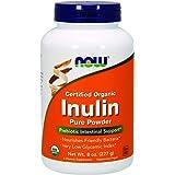 NOW Organic  Inulin Powder, 8-Ounce
