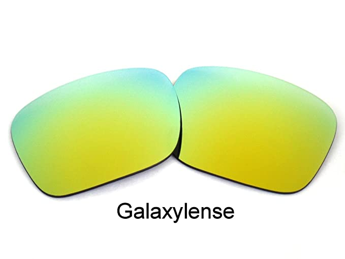 646908e8d4 Amazon.com  Galaxy Replacement Lenses for Oakley Holbrook 24K Gold Color  Polarized  Clothing