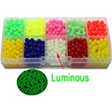 Fishing Beads 5mm Assorted Saltwater Carp Fishing Tackle Kit 1000pcs/box Hard Plastic Eggs for Rigs
