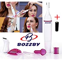 Bozzby Sensitive Touch Electric Bikini Trimmer for Women Hair Removal Clipper Eye Brow Shaver