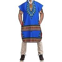 TEBAISE Men's Mens Hipster Hip Hop African Dashiki Hoodie Pollover Elongated Longline T Shirt