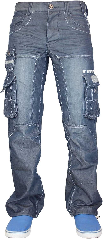 Pantalones vaqueros Enzo para hombre de tela vaquera de 28 a 48 pulgadas
