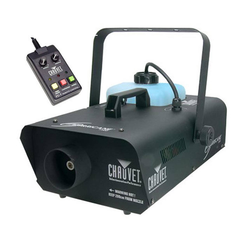 CHAUVET DJ Hurricane 1301 Fog Machine w/Wired Timer Remote and LED Illuminated Tank