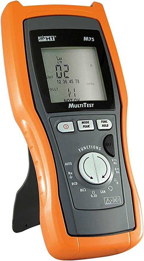 Ht Instruments Digitales Multimeter Trms Und Vde 0100 Tester Plus Lan Tester M75 Baumarkt