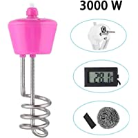 ConPush 3000W Calentador de suspensión Calentador rápido de Agua de Acero Inoxidable para Tina de baño Piscina(3M)