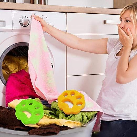 Viscose Pet Hair Clothing Hair Remover Dryer Machine Lorchwise 2PCS Cleaning Ball Washing Machine Depilator Pet Hair Removal Pad